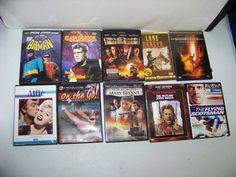 Lot 10 DVD movies Westerns, action,Alfie,Lone Ranger,Batman,Training Cyclist