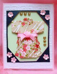 Dimensional Kimono Card