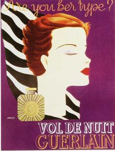 GUERLAIN 1930s | Vol de Nuit | #vintage #beauty #advertisement