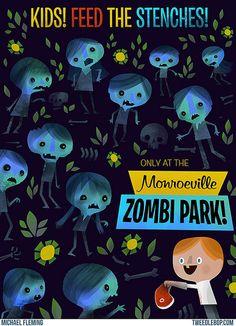 Zombi Park print by tweedlebop, via Flickr