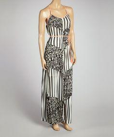 Look at this #zulilyfind! Black & White Drew Maxi Dress by Meghan Los Angeles #zulilyfinds