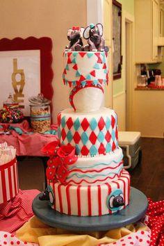 Twins Circus Birthday Cake