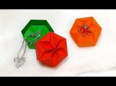 Origami Hexagonal Box  - REALLY  EASY!  Perfect DIY jewelry box ! Ideas for Christmas gifts - YouTube