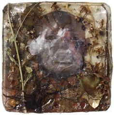 """Ymmärrys"" Mixed media / collage cast in plastic. 2015. Artist: Janne Martola"