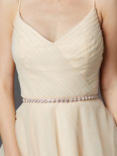Rose Gold Bridal Belt with Genuine Preciosa Crystals