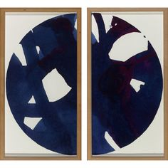 Malta Globe Diptych Indigo | Curated with the designer, traveler & collector in mind our artwork lends a lived-in elegance to the home. Bold graphics, saturated colors & metallic accents blend beautifully as a gallery wall.