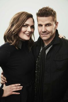 Emily Deschanel and David Boreanaz - 'Bones' 2017 Winter TCA Portrait