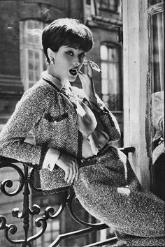 1958: Marie-Helene Arnaud, the allure of Chanel 1958. Photo by Sante Forlano. © Chanel http://hairessbox.co.uk #hair #fifties
