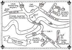 Custom Wedding Map  Hand Drawn BW by TheWanderingWhale on Etsy, $84.99