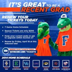 Florida Gators Football Recent Grad Season Ticket Offer