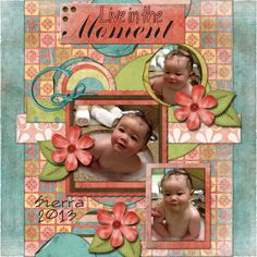 Live in the Moment: My sweet little granddaughter getting a quick bath in the sink while we were in San Diego. She is just a barrel of fun and squishy too!   Credits: Brighton, Designs by Laura Burger