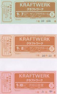 1981 Computer World Tour Tokyo 3 Days Nakano Sun Plaza 2 days and Shibuya Kohkai-doh Very Rare with collecting tickets! Presented by Hiroyuki Nagata(facebook)