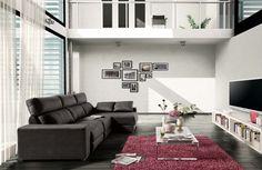 Sofá modelo roger del fabricante Acomodel. Disponible en varias medidas y configuraciones, incluidas rinconeras y chaiselongues. Tambien disponible con asientos relax electricos.