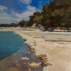 Along the Blanco by Jill Carver Oil ~ 30 x 30