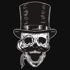Victorian Skull with Monocle | Unisex T-Shirt
