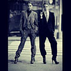 Women in suits and ties. #tiesonwomen