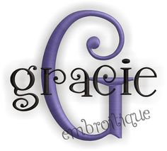 Gracie Embroidery Alphabet Monogram Set by Embroitique on Etsy, $6.99