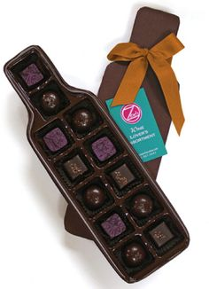 THE WINE LOVERS ASSORTMENT. OMG! #liquor and #chocolate in one package : ) PD