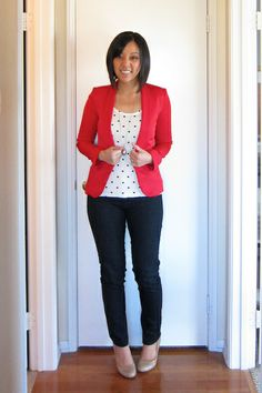 Putting Me Together featured the Red Blazer from my store! www.daisyraeboutique.com