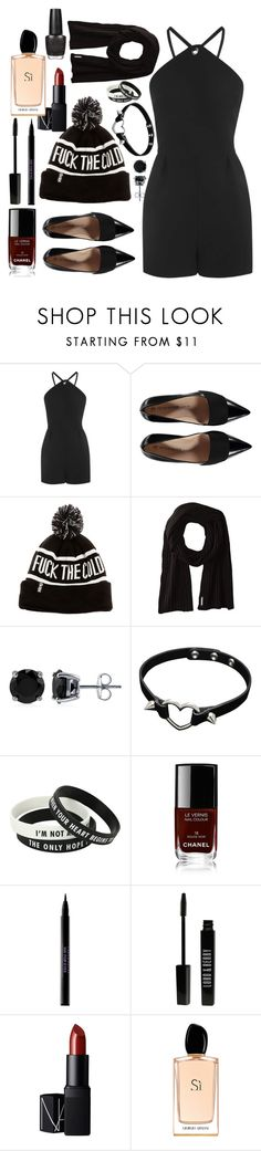 """"" by a-good-old-southern-belle ❤ liked on Polyvore featuring Topshop, Soia & Kyo, BERRICLE, Chanel, Urban Decay, Lord & Berry, NARS Cosmetics, Giorgio Armani and OPI"