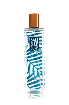 Bali Blue Surf - Fine Fragrance Mist - Signature Collection - Bath & Body Works - Welcome to paradise! Lavishly splash or lightly spritz your favorite fragrance, either way you'll fall in love at first mist! Our carefully crafted bottle and sophisticated pump delivers great coverage while conditioning aloe mist nourishes skin for the lightest, most refreshing way to fragrance!