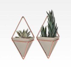 lojaMO.D - Vasos de parede Trigg cimento (2 peças) pequeno