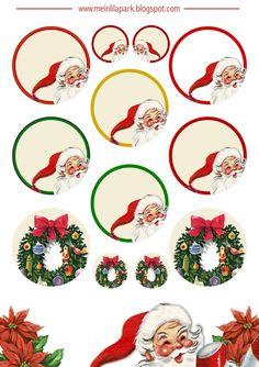 FREE printable Christmas clip art tags