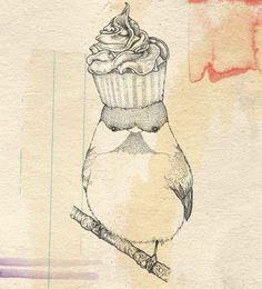 Cupcake bird :)