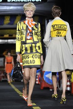 Moschino Show: Milan Fashion Week SS16 - Construction Couture, Cadillacs And Car Washes: The Best Pictures From Moschino SS16 | InStyle UK