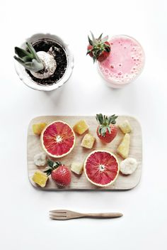 #DIY Morning Fruit Smoothie and tips on how to make it healthy