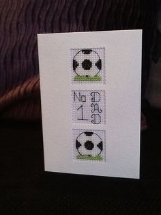 Handmade Cross Stitch Fathers Day / Birthday Card, made to order. Card size is 6 x 4 and comes complete with envelope in cellophane bag Card is made in a smoke and pet free home Birthday Cards For Men, Handmade Birthday Cards, Birthday Greeting Cards, Birthday Greetings, Handmade Cards, Cross Stitch Alphabet, Cross Stitch Patterns, Men's Cards, Fundraising Ideas
