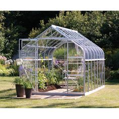 Looking for something different? These Vitavia Greenhouse have unique curved eaves! #greenhouse #curve #unique