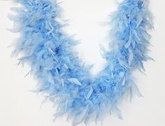 Cynthia's Feathers 65g Chandelle Feather Boas Over 80 Colors & Patterns to Pick Up (Light Blue) 7.99