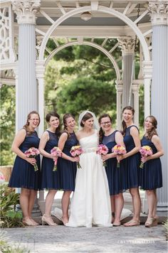 Navy Wedding  Summer wedding  bridal party