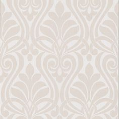 Brewster 295-66522 Amiya Platinum New Damask Wallpaper Platinum Home Decor Wallpaper Wallpaper