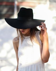 Simple boho style. Add a big floppy hat like this one to add a little bit of boho flare to any look.