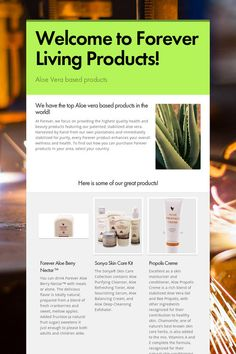 Welcome to Forever Living Products! - Aloe Vera based products by Aksel Kloster Forever Living Products, Aloe Vera, Welcome, Health And Beauty, Wellness, Skin Care, Skincare Routine, Skins Uk, Skincare