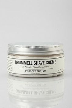 Shave creme. Leaves your face feeling soft and smooth