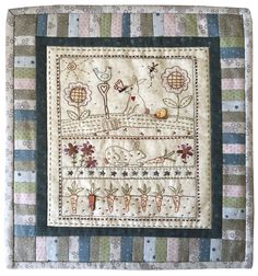Shop | Category: Lynette Anderson Designs | Product: Bunny Garden Wallhanging Love this! Need to learn some new needle skills!