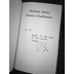 #RiccardoPozzoli Riccardo Pozzoli: I've been laughing all the time! @micheledalai And best dedication ever. #book #readings #onorailbabbuino