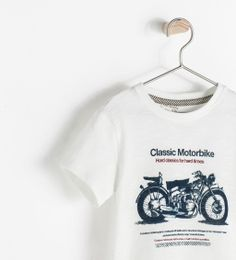 Image 3 of T-SHIRT WITH MOTORBIKE PRINT from Zara