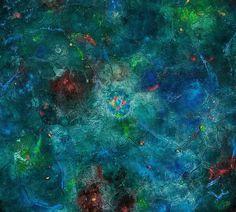 """© Miriam Da Silva  Série """"Cosmos"""" """"Venus Magellan """" 2015  Detail 100 x 100 cm Oil and matter on Canvas"""