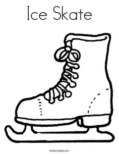 Ice Skate Coloring Page - Twisty Noodle