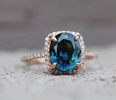 Gorgeous Blue Green sapphire {my birthstone!} engagement ring. Peacock by EidelPrecious