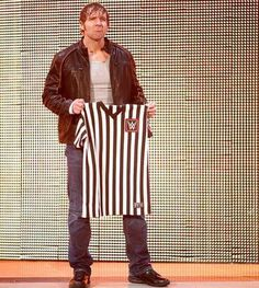 Dean Ambrose as special guest referee