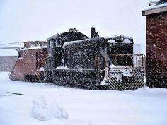 Strasburg 8618 preparing to go to work with the snowplow. Strasburg Railroad, Pennsylvania Dutch Country, Snow Plow, Steam Locomotive, Going To Work, Trains, Train