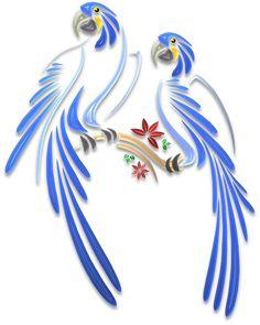 Parrots – Illustrations – Art & Islamic Graphics
