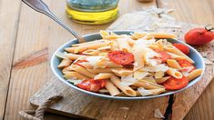 Μακαρόνια με κρεμώδες τυρί και σάλτσα ντομάτας Dairy, Cheese, Food, Essen, Meals, Yemek, Eten