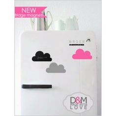 D&M made with love (Pty) Ltd - creating unique online dcor range that specialises in different advertising chalkboards and custom rubber stamps. Chalkboard Fridge, Cloud Shapes, Custom Rubber Stamps, Magnets, Clouds, Day, South Africa, Gifts, Stuff To Buy