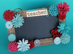 Personalized Teacher Gift Chalkboard Sign/ by LotusBlossomsDesigns, $38.50